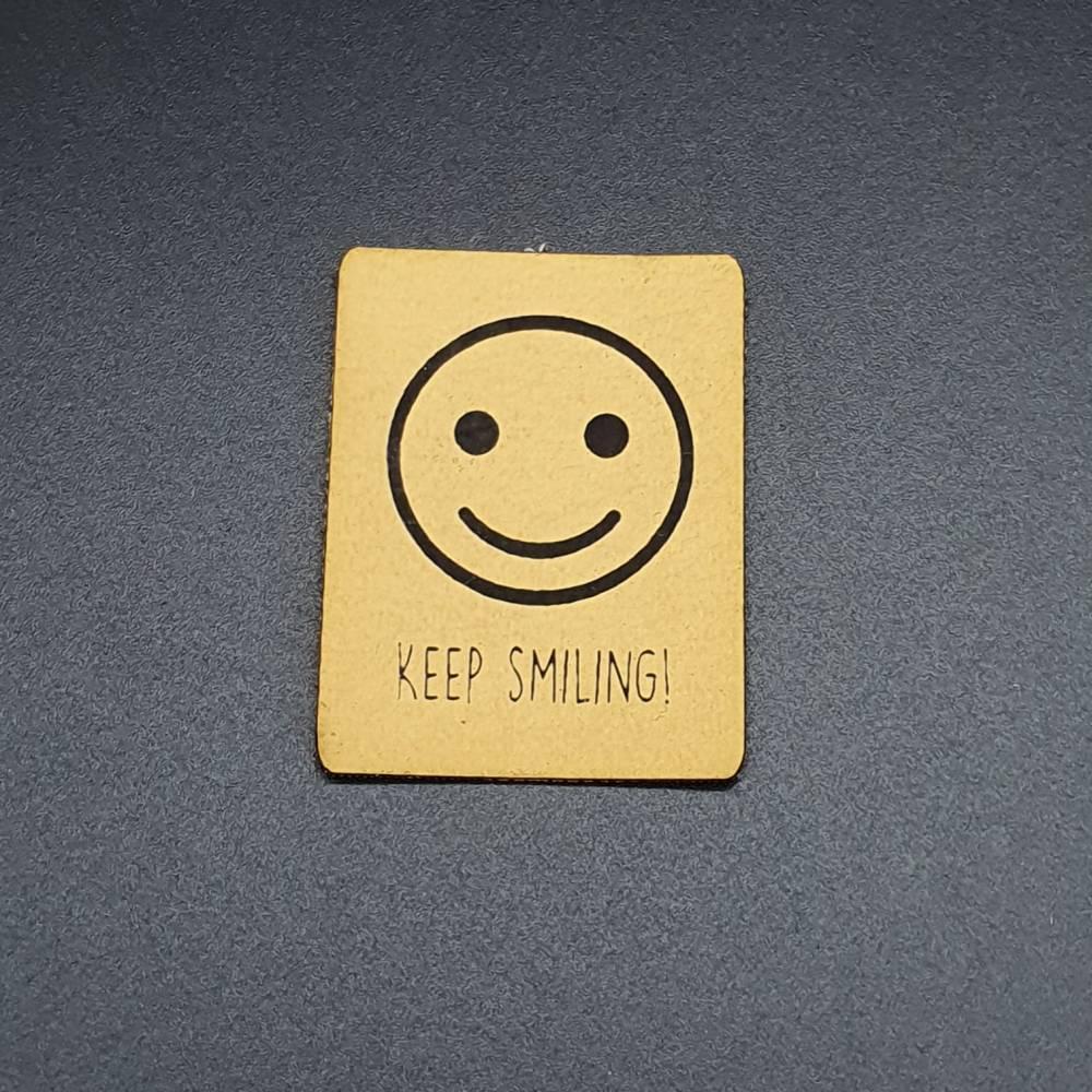 Kunstlederlabel Smile Bild 1