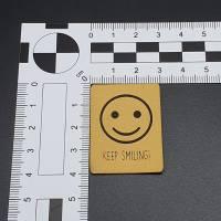 Kunstlederlabel Smile Bild 2
