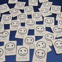 Kunstlederlabel Smile Bild 3