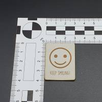 Kunstlederlabel Smile Bild 5