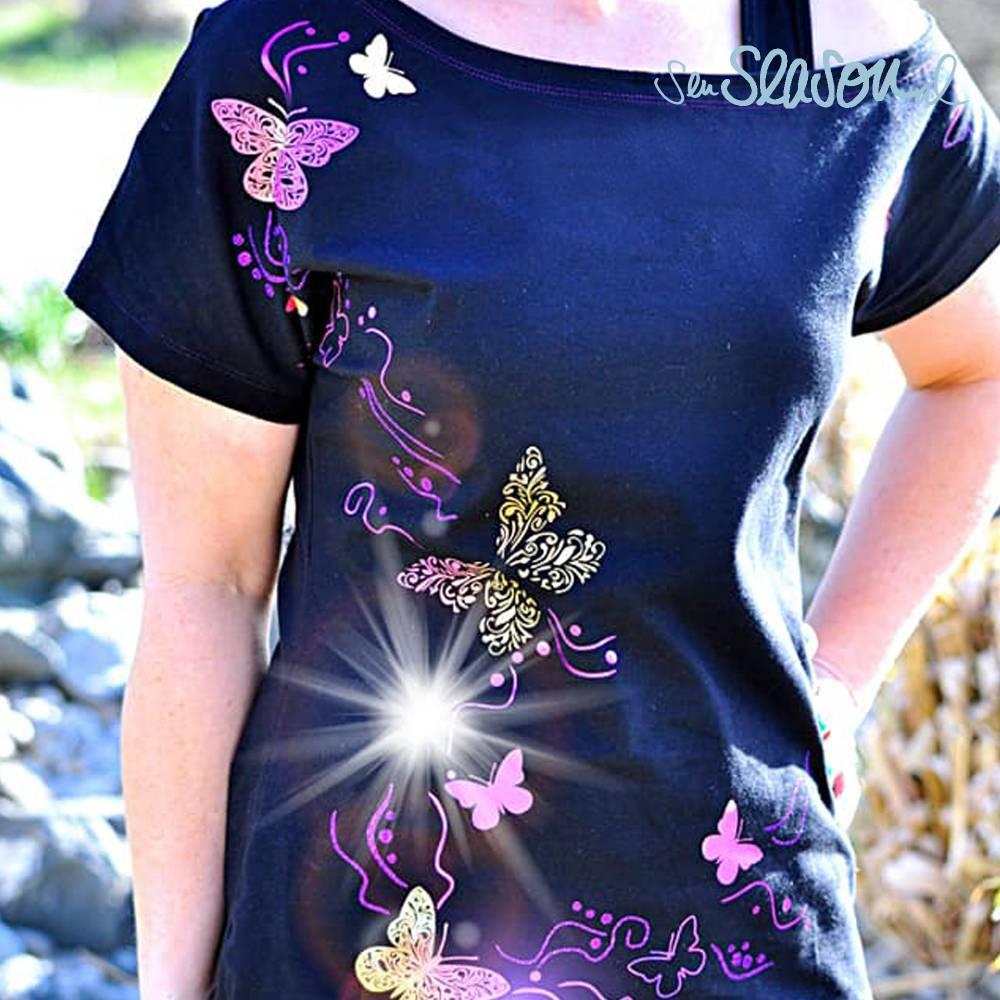 Schmetterling, Plotterdatei für Folien oder Papier, in 4 Varianten, als svg und dxf Bild 1