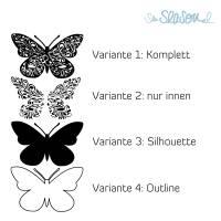Schmetterling, Plotterdatei für Folien oder Papier, in 4 Varianten, als svg und dxf Bild 3