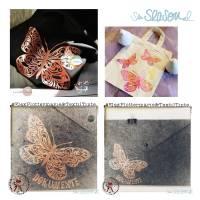 Schmetterling, Plotterdatei für Folien oder Papier, in 4 Varianten, als svg und dxf Bild 6