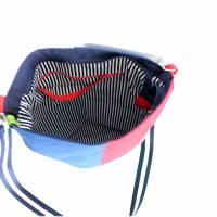 """Umhängetasche """"Color"""" , tolles Upcycling in vier Farben, Schultertasche, Beuteltasche, Body-Bag, Jeanstasche, Pa Bild 7"""