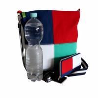 """Umhängetasche """"Color"""" , tolles Upcycling in vier Farben, Schultertasche, Beuteltasche, Body-Bag, Jeanstasche, Pa Bild 9"""