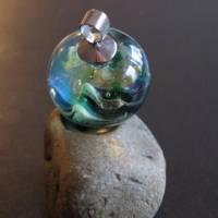 Mystischer Spaziergang im Elfenland - Handgefertigte Glaskugel als Anhänger Bild 3