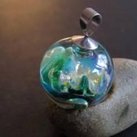 Mystischer Spaziergang im Elfenland - Handgefertigte Glaskugel als Anhänger Bild 6