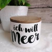 Keramikdose - Ich will Meer - klein Bild 1