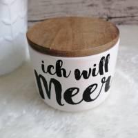 Keramikdose - Ich will Meer - klein Bild 2