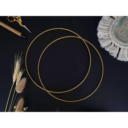 Metallring golden 20cm für DIY Traumfänger, Makrameeprojekte und Blumenkränze