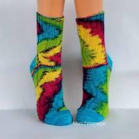 Socken Wollsocken Damensocken handgestrickt Größe 40/41 Bild 1