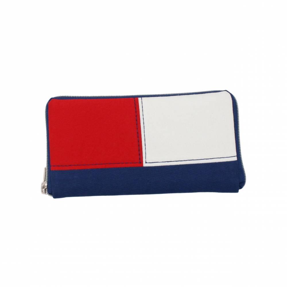 """Geldbörse """" Color """" ein geräumiges Portemonnaie mit Reißverschluss, Geldbeutel, maritim, Portmonee Bild 1"""