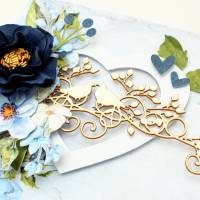 Hochzeitskarte mit Schachtel, Hochzeitskarte, Hochzeitsgeschenk, Glückwunschkarte, Geldgeschenk Hochzeit, handgemacht Bild 3