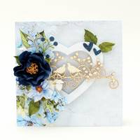 Hochzeitskarte mit Schachtel, Hochzeitskarte, Hochzeitsgeschenk, Glückwunschkarte, Geldgeschenk Hochzeit, handgemacht Bild 4