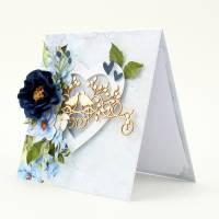 Hochzeitskarte mit Schachtel, Hochzeitskarte, Hochzeitsgeschenk, Glückwunschkarte, Geldgeschenk Hochzeit, handgemacht Bild 5