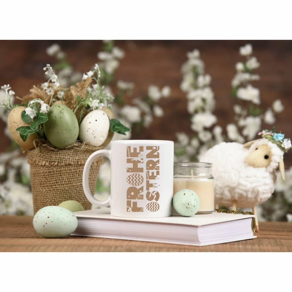Frohe Ostern Freebie für den Plotter . Schriftzug zum Verzieren von Fenstern und Dekoration Bild 1