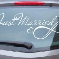 Infinity 01 - Autotattoo in Wunschfarbe - Hochzeitsaufkleber - Hochzeitsdeko - Hochzeitsdekoration - Just Married Bild 1