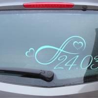 Infinity 01 - Autotattoo in Wunschfarbe - Hochzeitsaufkleber - Hochzeitsdeko - Hochzeitsdekoration - Just Married Bild 3