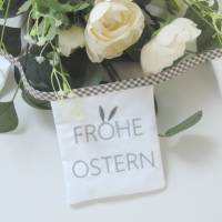 Stickdatei ITH Osterwimpel 18x13 Frohe Ostern Hase Ei Embroidery Files in the hoop frühling spring sofort download insta Bild 1
