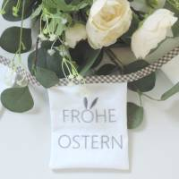 Stickdatei ITH Osterwimpel 18x13 Frohe Ostern Hase Ei Embroidery Files in the hoop frühling spring sofort download insta Bild 2