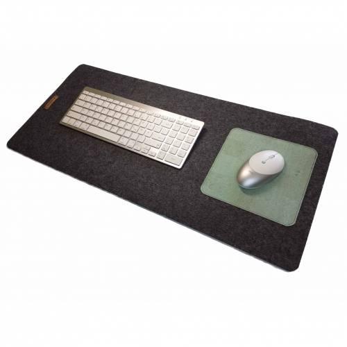 Schreibtischunterlage Filz mit Mauspad Handmade Merino Wollfilz Filz Kork Farb- und Größenauswahl