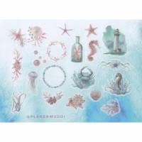 "Mini Sticker-Set ""Sea"", 20-teilig Bild 1"