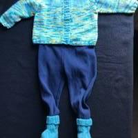 Sommerstrickjacke - gestrickt aus 100 % Baumwolle für Jungen und Mädchen 6 - 9 Monate Bild 1