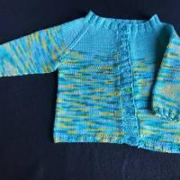 Sommerstrickjacke - gestrickt aus 100 % Baumwolle für Jungen und Mädchen 6 - 9 Monate Bild 2