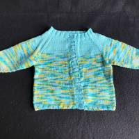 Sommerstrickjacke - gestrickt aus 100 % Baumwolle für Jungen und Mädchen 6 - 9 Monate Bild 3
