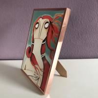 """Kleiner Kunstdruck """"Venus, nach Botticelli"""" lacaluna Kunst Malerei Gemälde art Acrylbild  Bild 2"""