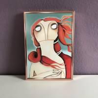 """Kleiner Kunstdruck """"Venus, nach Botticelli"""" lacaluna Kunst Malerei Gemälde art Acrylbild  Bild 3"""