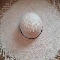Strohhut breitkrempig mit Fransen und Bindebändern Bild 10