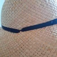 Strohhut breitkrempig mit Fransen und Bindebändern Bild 7