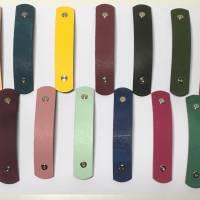 HAARKLAMMER aus LEDER 8,5 cm Länge HAARSPANGE 13 Farben zur Auswahl FARBIG Bild 1