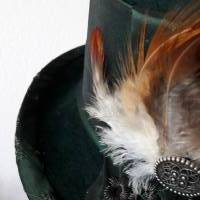 Zylinder Trachtenhut Dirndlhut Filz mit Federn Bild 8