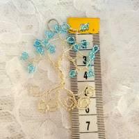 """Anhänger """"Lebensbaum"""" aus silbernen Draht mit blauen Perlen für Halsketten Bild 2"""