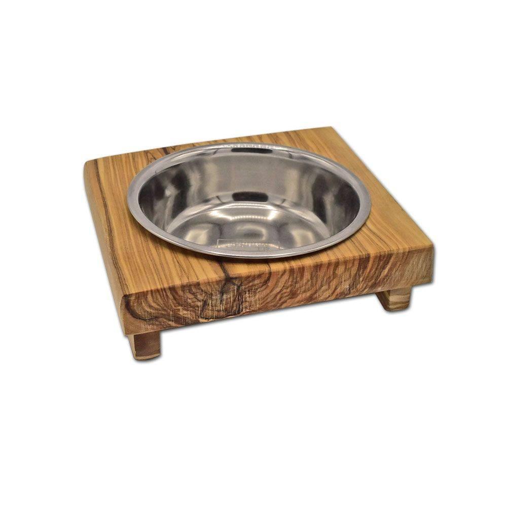 Futternapf LUCKY (0,2 l-Metallschale) für Hunde & Katzen Bild 1