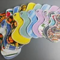 EINZELNE waschbare Slipeinlagen und Binden in 4 verschiedenen Stärken *Upcycling-Produkt*  Bild 2