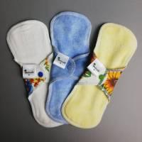 EINZELNE waschbare Slipeinlagen und Binden in 4 verschiedenen Stärken *Upcycling-Produkt*  Bild 7