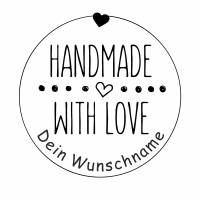 "Personalisierter Stempel ""Handmade with Love"" DIY Stempel ""Handmade with Love"" Ø 30/40mm Bild 2"