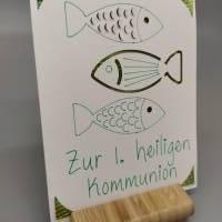 Karte Drei Fische - Kommunion, Konfirmation, Taufe etc.  Bild 1