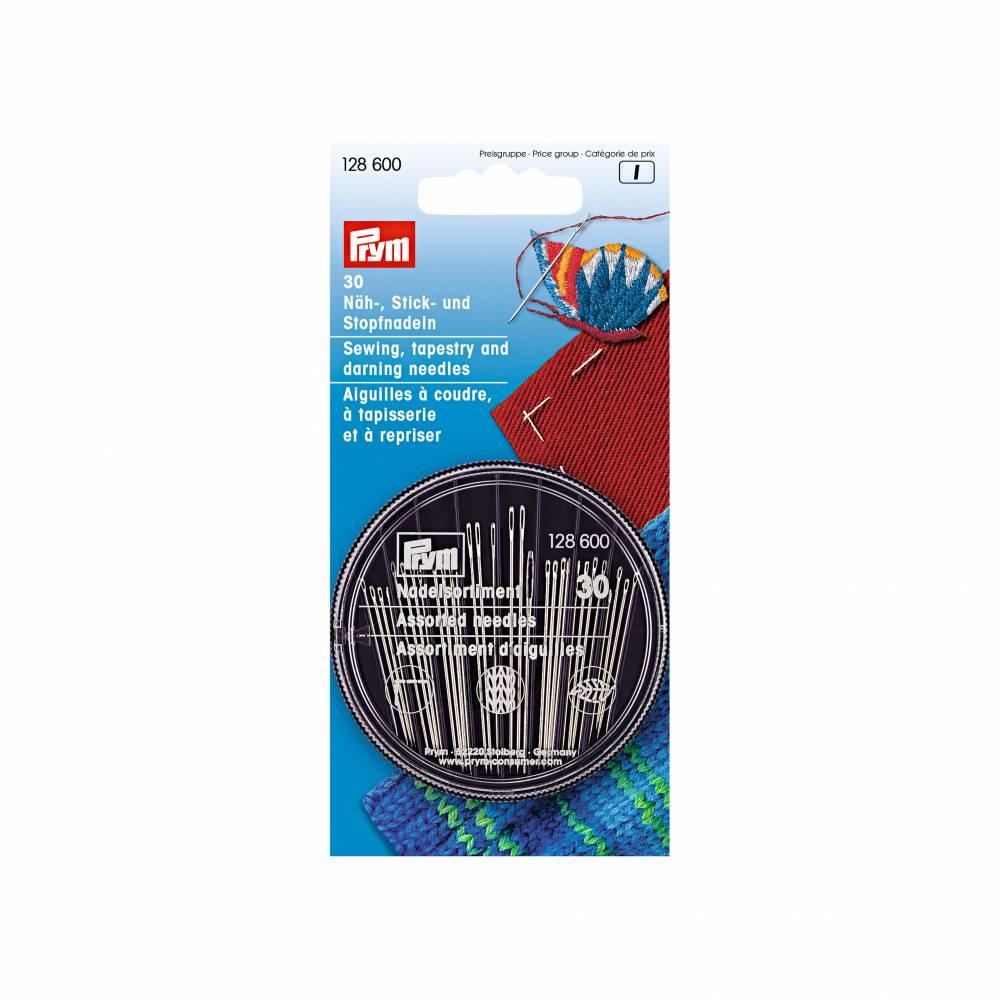 30 Nadeln 128610 Prym Näh- Stick und Stopfnadeln in Compact-Dose