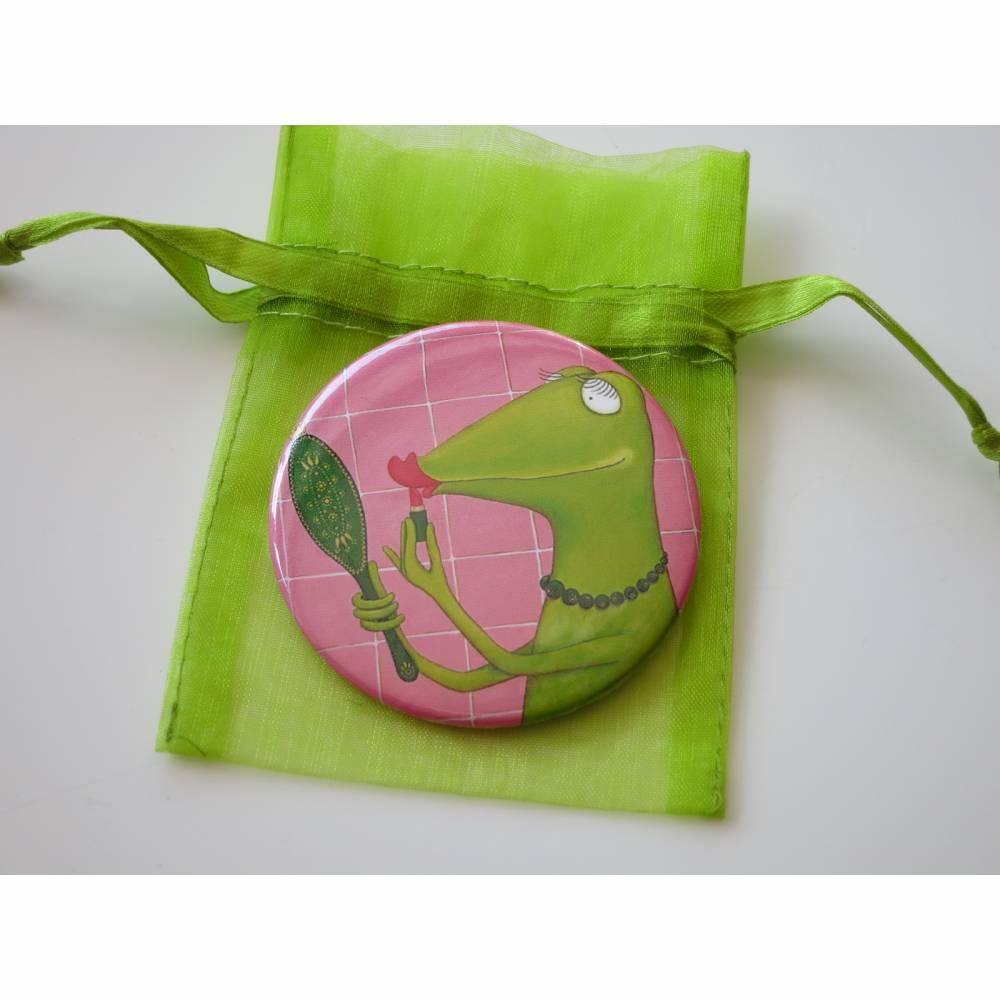 Fiona, die Beauty-Queen, Taschenspiegel, Beauty Geschenk, Wellness Geschenk, Make Up Geschenk, Schminkspiegel Bild 1