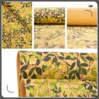 Korkstoff grüne Blätter 430 g  / m² bedruckt KORK Größenauswahl  Bild 1