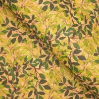 Korkstoff grüne Blätter 430 g  / m² bedruckt KORK Größenauswahl  Bild 2