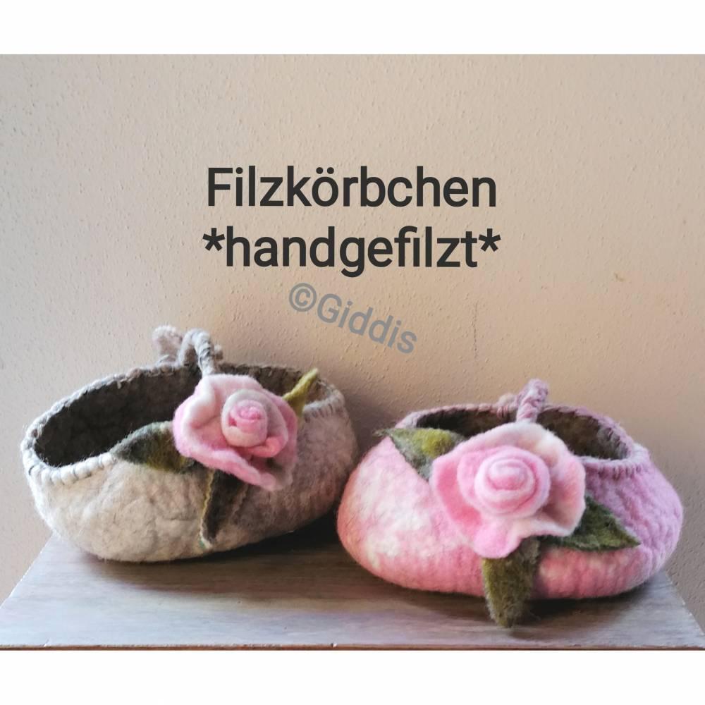 Filzkörbchen-Geschenkekorb Bild 1