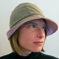 Stoffhut Grün-Rosa Bild 3