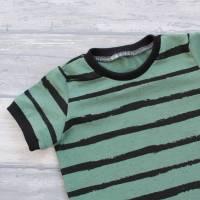Kurzarm-Oberteil Jersey Stripes dusty mint Größe 92 Bild 2