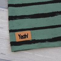 Kurzarm-Oberteil Jersey Stripes dusty mint Größe 92 Bild 3