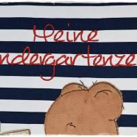 Ordner/Portfolio dunkelblau gemustert, Teddy mit Auto und Wunschname Bild 4